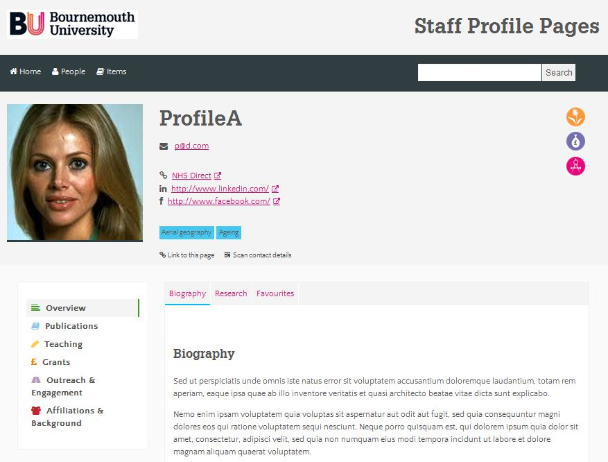 Coming Soon – New Staff Profile Pages