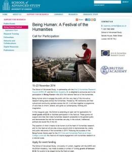 Being Human webpage