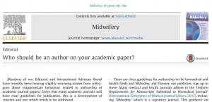 Editorial Midwifery 2014