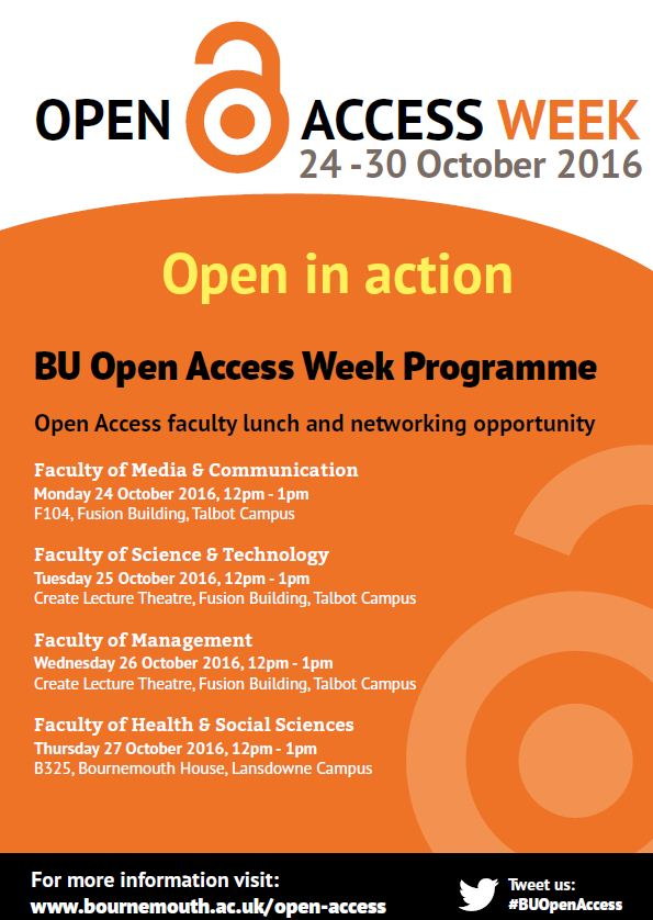 BU Open Access Week 2016