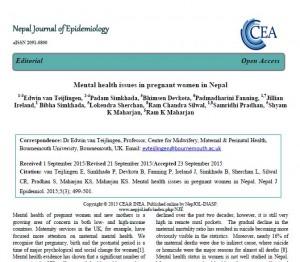 Nepal J Epidemiol editorial 2015