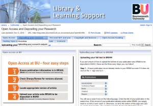 Open access and depositing your research