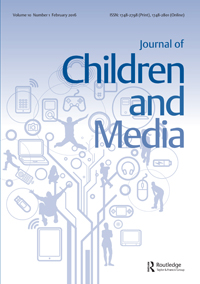 children and media journal cover