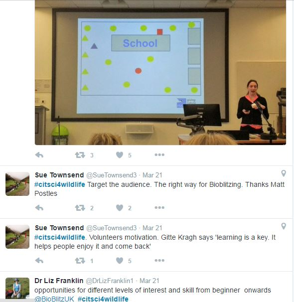 tweets on #citsci4wildlife