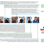 Poster of speakers for Green Bubbles Open  Workshop