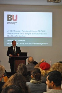 Lee Addressing the Centre for British Studies