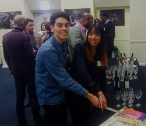 Mr Christian White (pictured left), BU alumnus and Youngest Author of Events Management: An International Approach